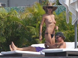 Heidi Klum Topless by the Pool