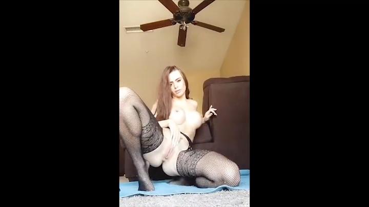 Allison Parker Leaked Video of Dildo Masturbation in Black Lingerie the Fappening